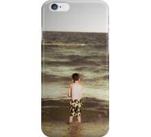 Boy at the beach iPhone Case/Skin