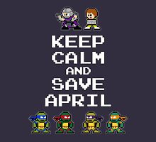 8-Bit TMNT- Keep Calm and Save April Unisex T-Shirt