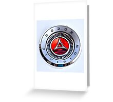 Dodge Division Classic Car Emblem Greeting Card
