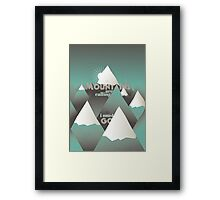 The Mountains are calling, and I must go - 2 Framed Print