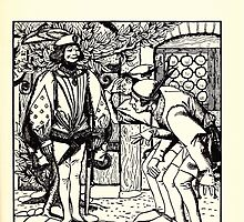 The Wonder Clock Howard Pyle 1915 0201 Peterkin's Brothers Marvel at Fine Clothes Hare Gave by wetdryvac