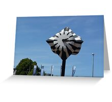 Clock at Railway Station (Den Haag, The Netherlands) Greeting Card