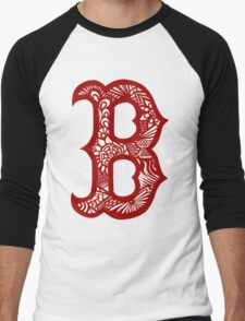 Boston_RedSox_Red Men's Baseball ¾ T-Shirt