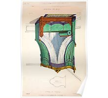 Le Garde Meuble Desire Guilmard 1839 0041 High Style Bed and Window Hanging Interior Design Poster