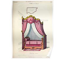 Le Garde Meuble Desire Guilmard 1839 0147 High Style Bed and Window Hanging Interior Design Poster