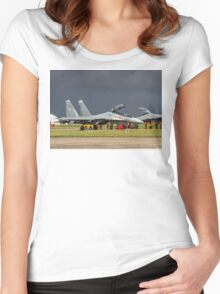 """Sukhoi Su-30MKI """"Flanker-F"""" SB065 ready to rumble Women's Fitted Scoop T-Shirt"""