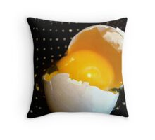 Egg-zactly!     ^ Throw Pillow