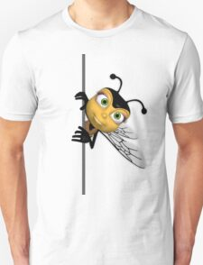 Bee T Shirt - With err Popping out honey bee T-Shirt