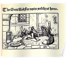 The Wonder Clock Howard Pyle 1915 006 The Great Red Fox Rests Softly at Home9 Poster