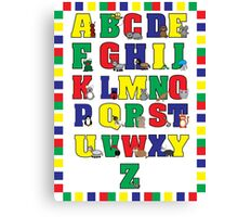 Animal Alphabet Poster (Primary Colors) Canvas Print