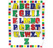 Animal Alphabet Poster (Primary Colors) Poster