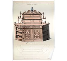 Le Garde Meuble Desire Guilmard 1839 0033 High Style Case Furniture Interior Design Poster