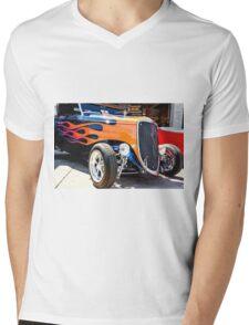 Ford Vintage Hot Rod  Mens V-Neck T-Shirt