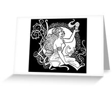 Art Nouveau Cafe Greeting Card