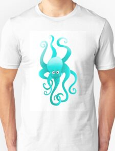 Funny blue octopus Unisex T-Shirt
