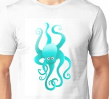 Funny blue octopus Unisex T-Shirt