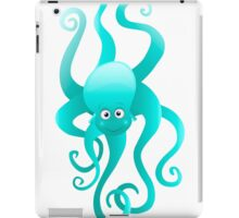 Funny blue octopus iPad Case/Skin