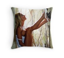 Framing Beauty Throw Pillow