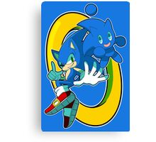 Sonic & Sonic Chao Canvas Print