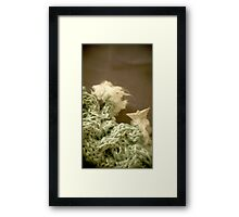 Mer de laine tricotée - Knitted wool sea Framed Print