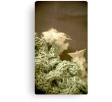 Mer de laine tricotée - Knitted wool sea Canvas Print