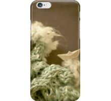 Mer de laine tricotée - Knitted wool sea iPhone Case/Skin