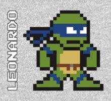 8-Bit TMNT- Leonardo One Piece - Long Sleeve