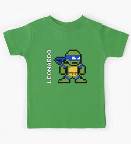 8-Bit TMNT- Leonardo Kids Tee