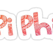 Pi Phi Tribal Sticker Sticker