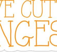 I LOVE CUTTING FRINGES Sticker