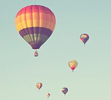 rainbow hot air balloons by STUDIOCLAIRE