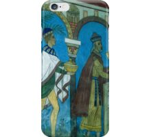 Magi and Mary Reconstructed Wall painting Church Jelling Denmark 198406250023 iPhone Case/Skin