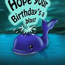 Whale Birthday Card (blank inside) by treasured-gift
