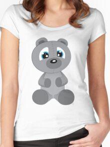 Huggable Stuffed Bear Women's Fitted Scoop T-Shirt