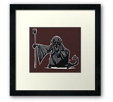 Monkey Wizard Framed Print