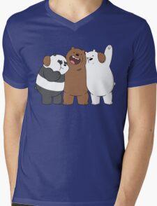 Bear Bros For Life Mens V-Neck T-Shirt