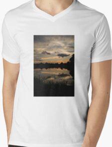 Sunset Glow Mens V-Neck T-Shirt