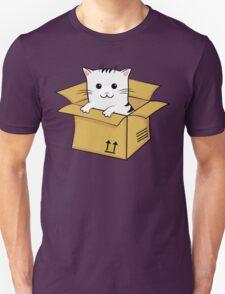 Kawaii Cat In A Box T Shirt Unisex T-Shirt