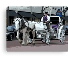 Indianapolis Carriage Driver Canvas Print