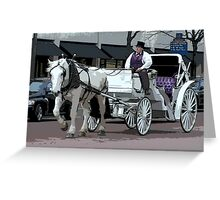 Indianapolis Carriage Driver Greeting Card