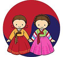 Little Korean girls Photographic Print