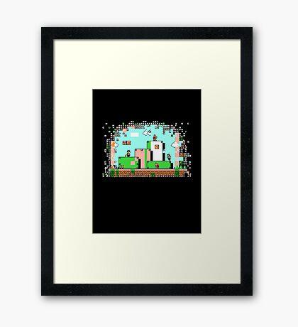 Glitch - Super Mario Bros. 3 Framed Print