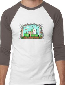 Glitch - Super Mario Bros. 3 Men's Baseball ¾ T-Shirt