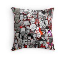 Titans of Horror Throw Pillow
