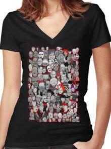 Titans of Horror Women's Fitted V-Neck T-Shirt