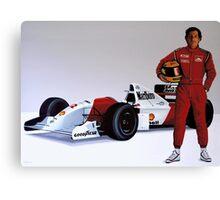 Ayrton Senna painting Canvas Print