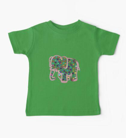 Pink Elephant Baby Tee