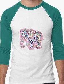 Pink Elephant Men's Baseball ¾ T-Shirt