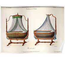 Le Garde Meuble Desire Guilmard 1839 0225 High Style Bed and Window Hanging Interior Design Poster