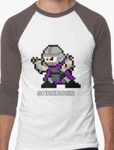 8-Bit TMNT Shredder Men's Baseball ¾ T-Shirt